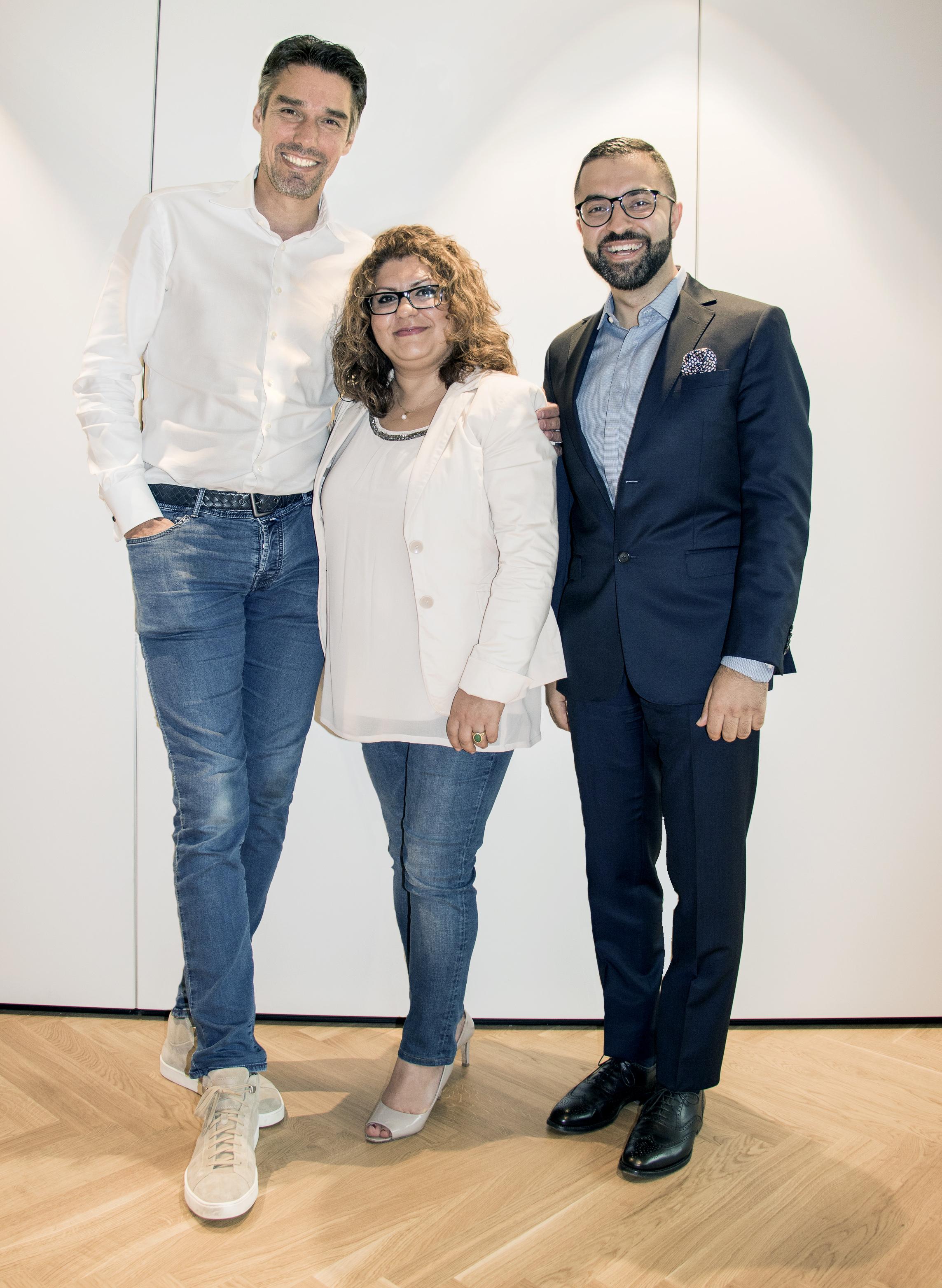 Michael Stich, Samira Said und David Etmenan, © Nader Etmenan Stiftung