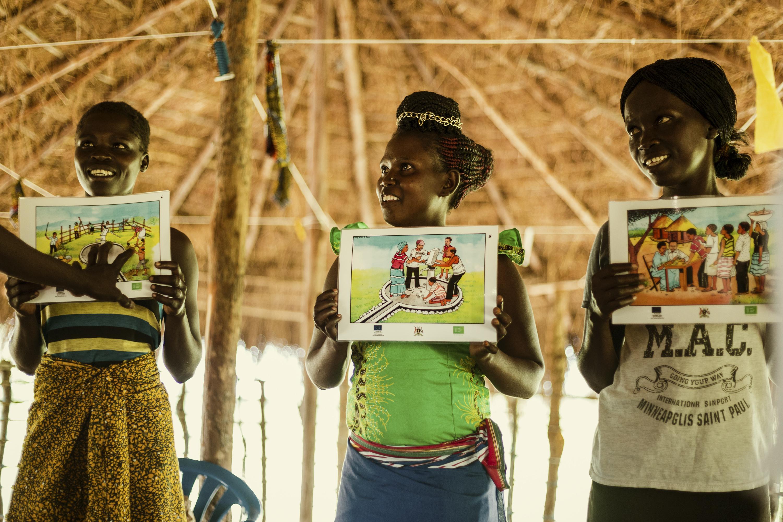 Fröhlicher Hygiene-Workshop im Dorf © Viva con Agua