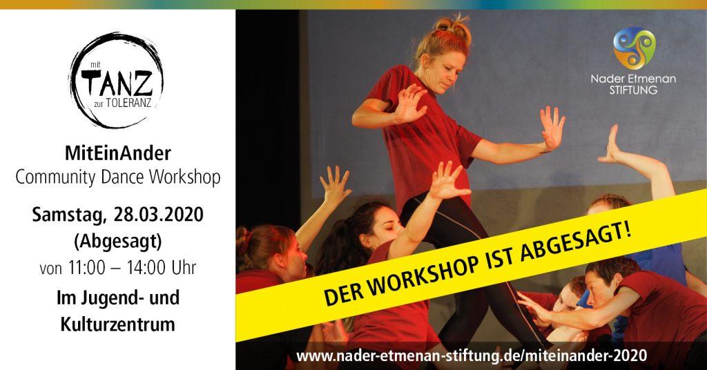 Absage Workshop MitEinAnder 28.03.2020