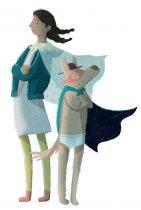 Leyla und Waldemar_Kleine (große) Heldin_Illustration von Laura Bednarski © Nader Etmenan Stiftung