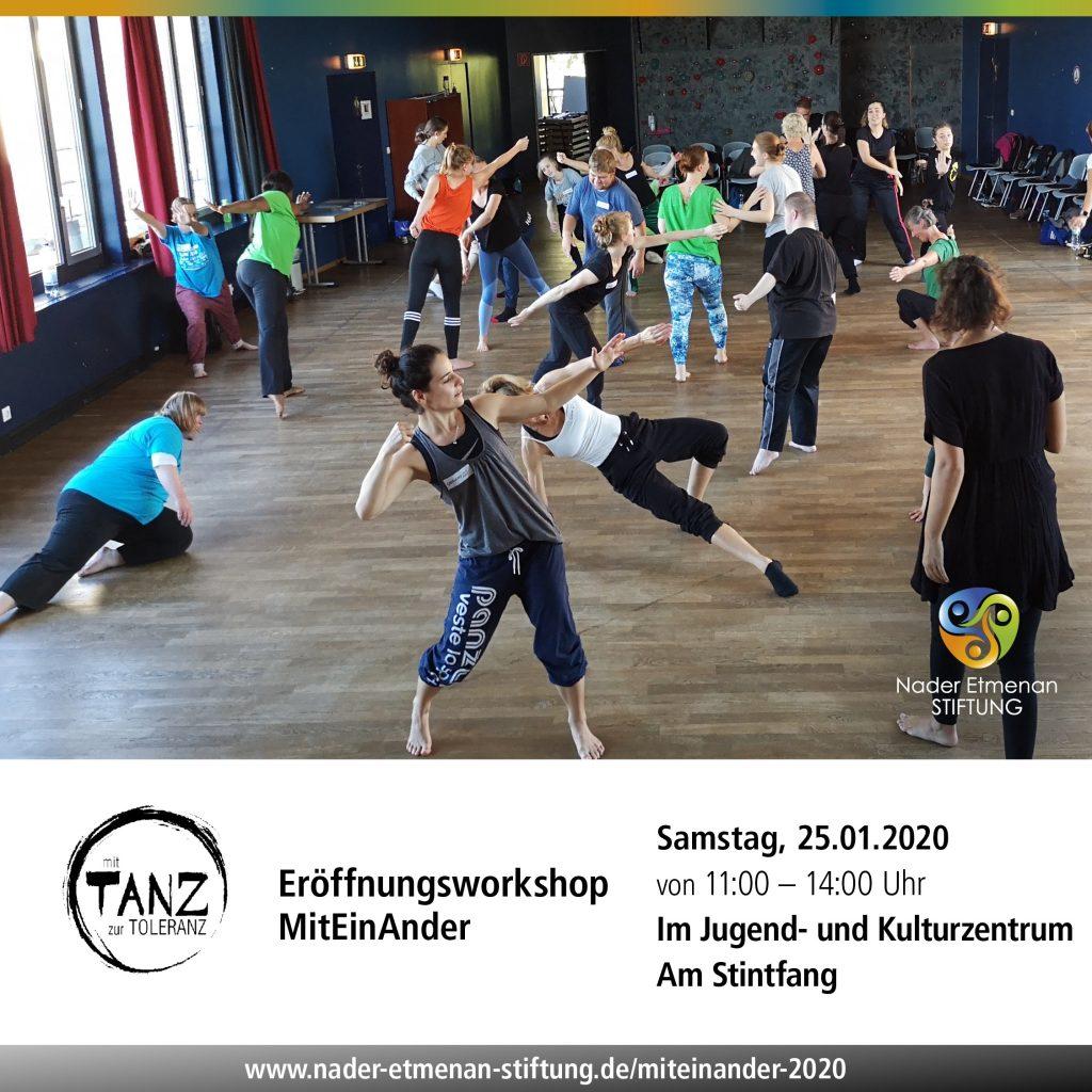 MitEinAnder_25.01.2020_Ankündigung_Eröffnung © Nader Etmenan Stiftung