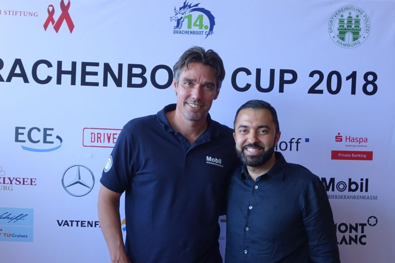 Michael Stich und David Etmenan beim 14. Drachenboot Cup